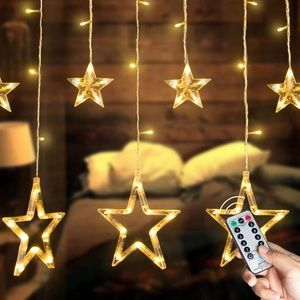 Accents - Twinkle 12 Stars 138 LED Curtain String Lights